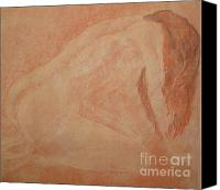 Female Figure  Drawings Canvas Prints - Forgive Me Canvas Print by Lj Lambert