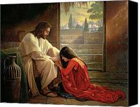 Magdalene Canvas Prints - Forgiven Canvas Print by Greg Olsen
