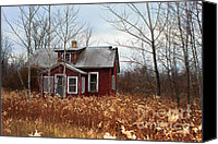 Cabin Window Canvas Prints - Forgotten and Abandoned Canvas Print by Ms Judi