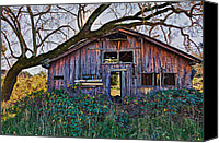 Unused Canvas Prints - Forgotten Barn Canvas Print by Garry Gay