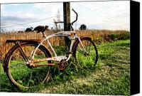 Pedals Canvas Prints - Forgotten Bicycle Canvas Print by Doug Hockman Photography