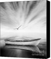 Seagull Canvas Prints - Forgotten Canvas Print by Photodream Art