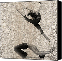 Dancer Digital Art Canvas Prints - Forgotten Romance 5 Canvas Print by Irina  March