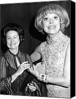 First Ladies Canvas Prints - Former First Lady Visits Carol Channing Canvas Print by Everett