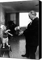 Lyndon Canvas Prints - Former President Lyndon Johnson Plays Canvas Print by Everett