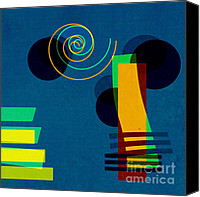 Modern Digital Art Canvas Prints - Formes - 03b Canvas Print by Variance Collections
