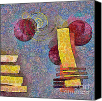 Circle Digital Art Canvas Prints - Formes - 08a Canvas Print by Variance Collections