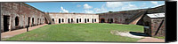 Court Yard Canvas Prints - Fort Macon panorama 2 Canvas Print by Michael Peychich