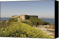 Europe Pyrography Canvas Prints - Fort Pezeries - Plainmont - Isle of Guernsey. Canvas Print by Urft Valley Art