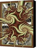 Swirl Digital Art Canvas Prints - Fortissimo Canvas Print by David April