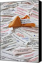 Emotion Canvas Prints - Fortune Cookie Sayings  Canvas Print by Garry Gay