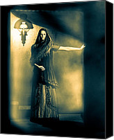 Gown Canvas Prints - Fortune Teller Canvas Print by Bob Orsillo