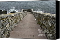 Featured Special Promotions - Forty Steps Newport RI Canvas Print by John Van Decker