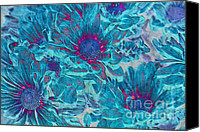 Textured Floral Canvas Prints - Foulee de petales - a01t Canvas Print by Variance Collections
