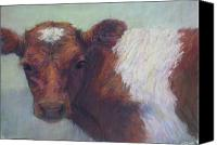 Cattle Pastels Canvas Prints - Foundling Canvas Print by Susan Williamson
