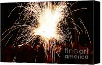 Pyrotechnics Canvas Prints - Fountain of sparks Canvas Print by Agusti Pardo Rossello