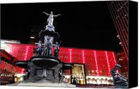 Genius Canvas Prints - Fountain Square Canvas Print by Russell Todd