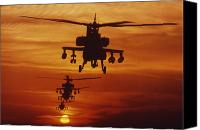 Apache Canvas Prints - Four Ah-64 Apache Anti-armor Canvas Print by Stocktrek Images