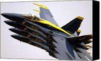 Demonstration Canvas Prints - Four Blue Angels Fa-18c Hornets Perform Canvas Print by Stocktrek Images