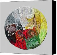 Seasons Reliefs Canvas Prints - Four Directions  2 Canvas Print by Arla Patch