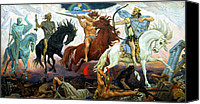 Horsemen Canvas Prints - Four Horsemen of the Apocalypse Canvas Print by Victor Vasnetsov