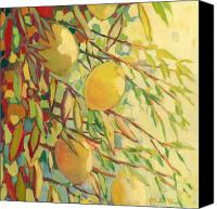Lime Painting Canvas Prints - Four Lemons Canvas Print by Jennifer Lommers