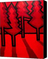 Treescape Canvas Prints - Four Red Pines Canvas Print by John  Nolan