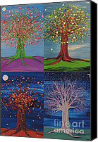 First Star Art By Jrr Canvas Prints - Four Seasons Trees Canvas Print by First Star Art