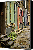 Fournier Canvas Prints - Fournier Street Canvas Print by Heather Applegate