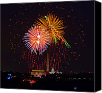 4th July Canvas Prints - Fourth of July Canvas Print by David Hahn