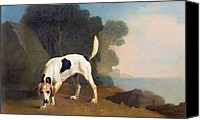 Foxhound Canvas Prints - Foxhound on the Scent Canvas Print by George Stubbs