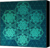 Genius Canvas Prints - Fractal Interference Canvas Print by Jason Padgett