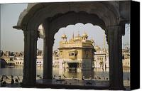 Religious Structures Canvas Prints - Framed By The Arch Of A Small Pavilion Canvas Print by Maynard Owen Williams