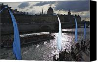 River Transportation Canvas Prints - France, Paris View Of Seine River Canvas Print by Keenpress