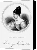 Hairstyle Canvas Prints - Frances Anne Kemble Canvas Print by Granger