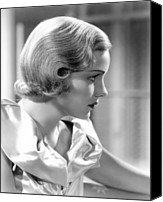 1930s Hairstyles Canvas Prints - Frances Farmer, Ca. 1937 Canvas Print by Everett