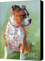 Boxer Canvas Prints - Frances Canvas Print by Kimberly Santini