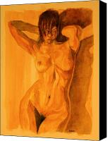 Female Nude Canvas Prints - Francesca Canvas Print by Dan Earle