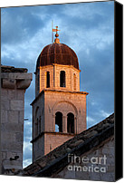 Dubrovnik Canvas Prints - Franciscan Monastery Tower at Sunset Canvas Print by Artur Bogacki
