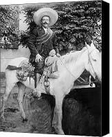Horseback Canvas Prints - Francisco Pancho Villa Canvas Print by Granger