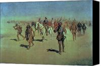 Remington Canvas Prints - Francisco Vasquez de Coronado Making his Way Across New Mexico Canvas Print by Frederic Remington