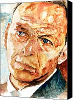Frank Sinatra Canvas Prints - Frank  Canvas Print by Marcelo Neira