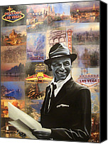 Singer Painting Canvas Prints - Frank Sinatra Canvas Print by Ryan Jones