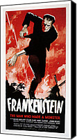 Horror Fantasy Movies Photo Canvas Prints - Frankenstein, Boris Karloff, 1931 Canvas Print by Everett