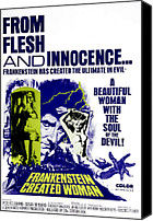 Horror Fantasy Movies Canvas Prints - Frankenstein Created Woman, Peter Canvas Print by Everett