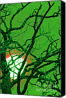 Unnatural Canvas Prints - Frankenstein Moon Canvas Print by First Star Art 