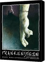 Scary Painting Canvas Prints - Frankenstein... Canvas Print by Will Bullas