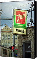 Corner Cafe Canvas Prints - Frankies Tavern - Binghamton New York Canvas Print by Frank Romeo