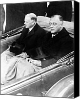 Usa President Canvas Prints - Franklin Delano Roosevelt And Herbert Canvas Print by Everett