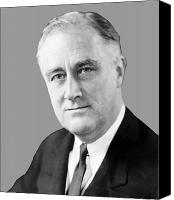 American Presidents Canvas Prints - Franklin Delano Roosevelt Canvas Print by War Is Hell Store